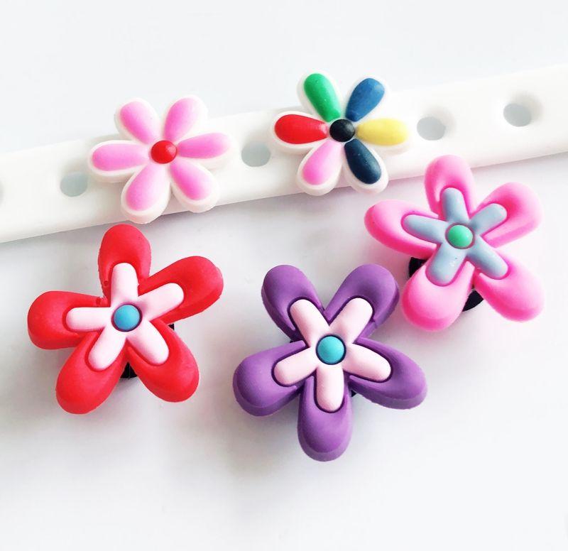 fcd34f1e0e79f 10PCs Flower Shoe Charms Shoes Accessory Popular Streetsnap DIY Children  Hole Shoes Cross Bracelets Kids Gifts