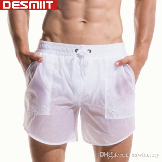 184c8fd379 2019 Desmiit Swimwear Mens Swimming Shorts Swimming Trunks Quick Dry  Translucent Swim Shorts Light Thin Sexy Plus Size Swimsuit Man From  Xxwfactory, ...