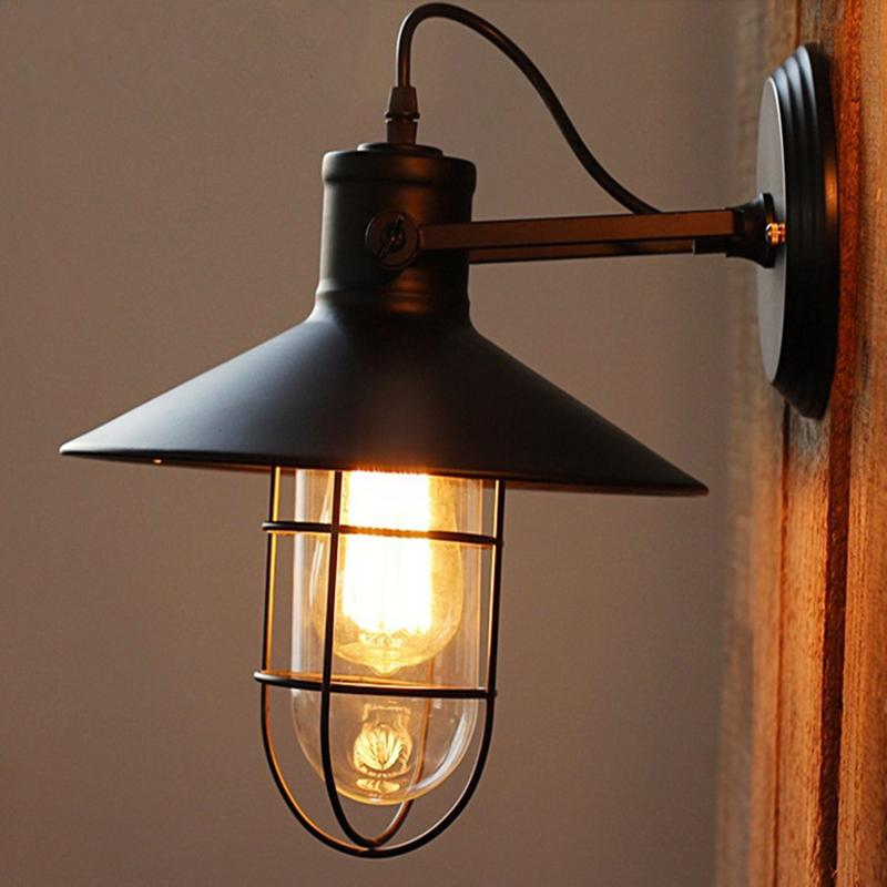 Acquista Antique Attico Antique Wall Lamps Edison Retro Tube Lampade