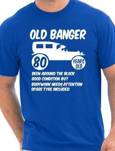 80 Achtzig Mens Age Birthday T Shirt Old