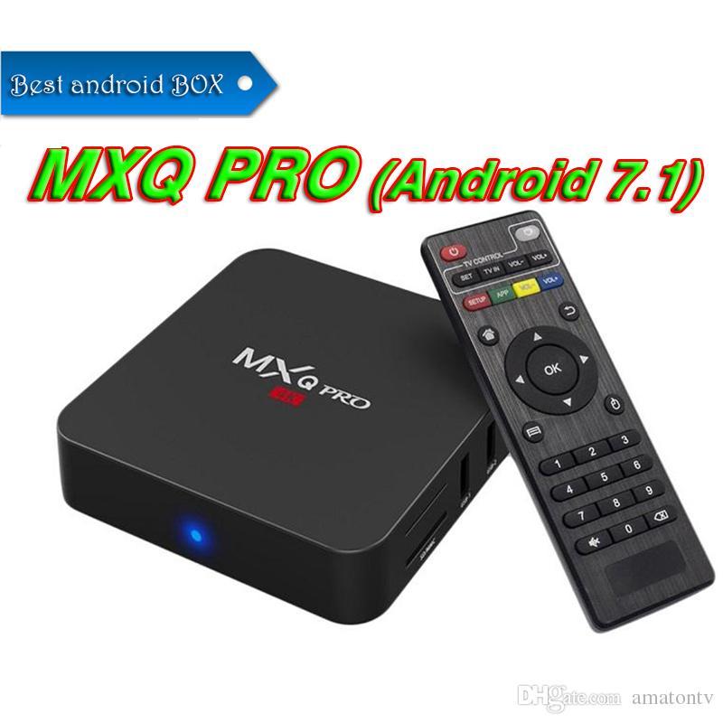 Android 7 1 TV Box Smart Mini PC 4K 3D MXQ PRO Rockchip RK3229 Quad Core 1G  8G Wifi 4Kx2K 1080P Home media player Better TX3 MINI S905W