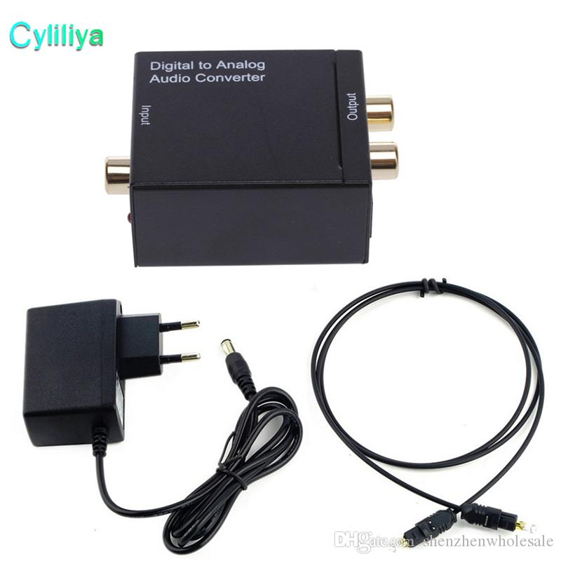 Digital to Analog Audio Converter Digital Adapter Optic Coaxial RCA Toslink Signal to Analog Audio Converter RCA