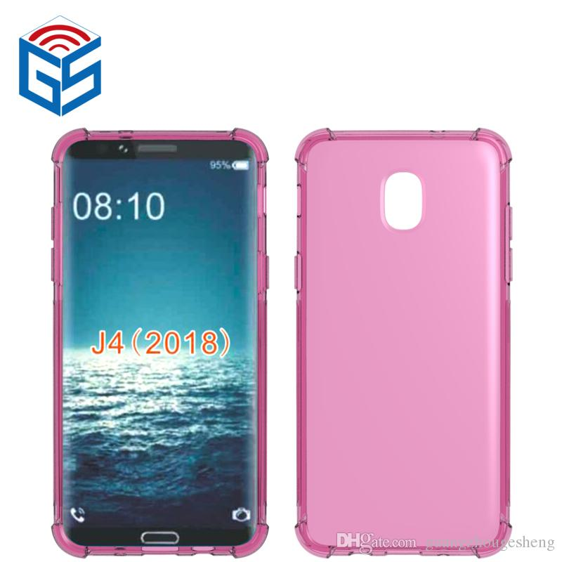 For Samsung Galaxy J2 Pro 2018 J250 J250F Grand Prime Pro J6 2018 J4 2018 Clear Case Anti-knock Edge Transparent TPU Cover