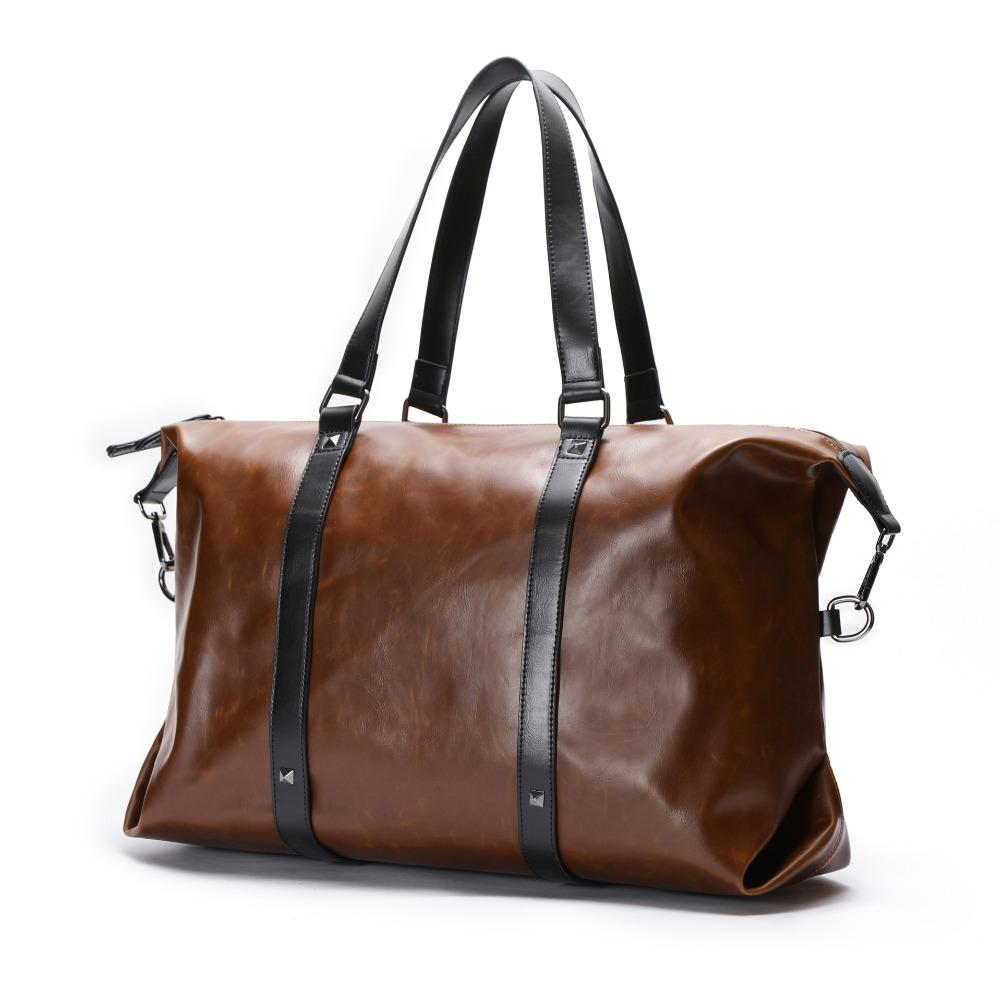 Man Casual Business Men Travel Bags Large Capacity Rolling Travel Handbag  Brown Leather Mens Duffel Bag For Short Trip Personalized Bags Buy Bags  Online ... 5ef354ad31c60