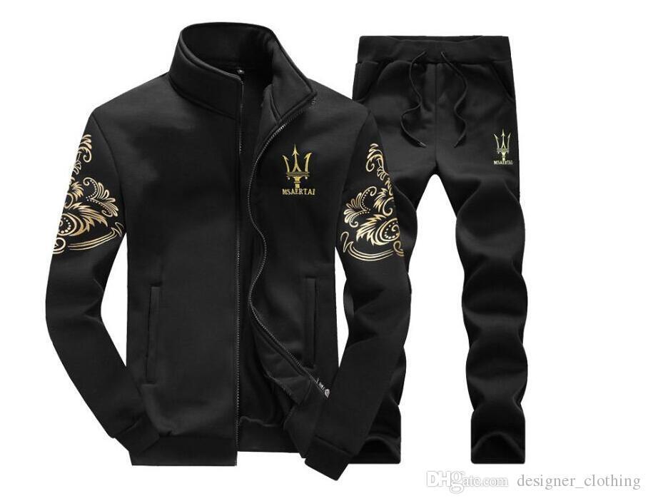 Acheter Designer Sportswear Sweat Automne Marque Sportswear Ensemble Veste  Jogging + Pantalon Ensemble Sport Survêtements Pour Hommes De  23.36 Du ... 6aea748196d