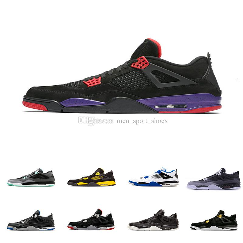 f3ae7a1e0bb 2018 4 4s Basketball Shoes Men Pure Money Royalty White Cement Raptors  Black Cat Trainers Sports Sneakers Wholesale Online with $114.17/Pair on ...