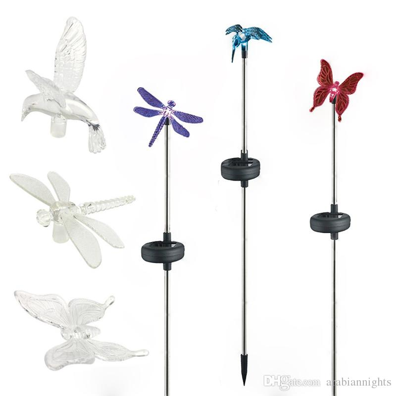 Genial 2018 Solar Stake Light Outdoor Hummingbird, Butterfly U0026 Dragonfly Solar  Garden Light With Color Changing Led Light For Pathway Lawn Yard Decor From  ...