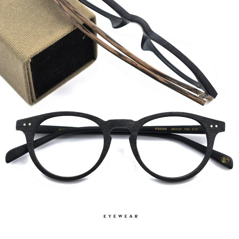 2fe684de580 2019 HDCRAFTER Wood Vintage Round Frame Glasses Retro Decorative Glasses  Frames Prescription Eyeglasses Men Women Fashion Eyewears From Mandarin18