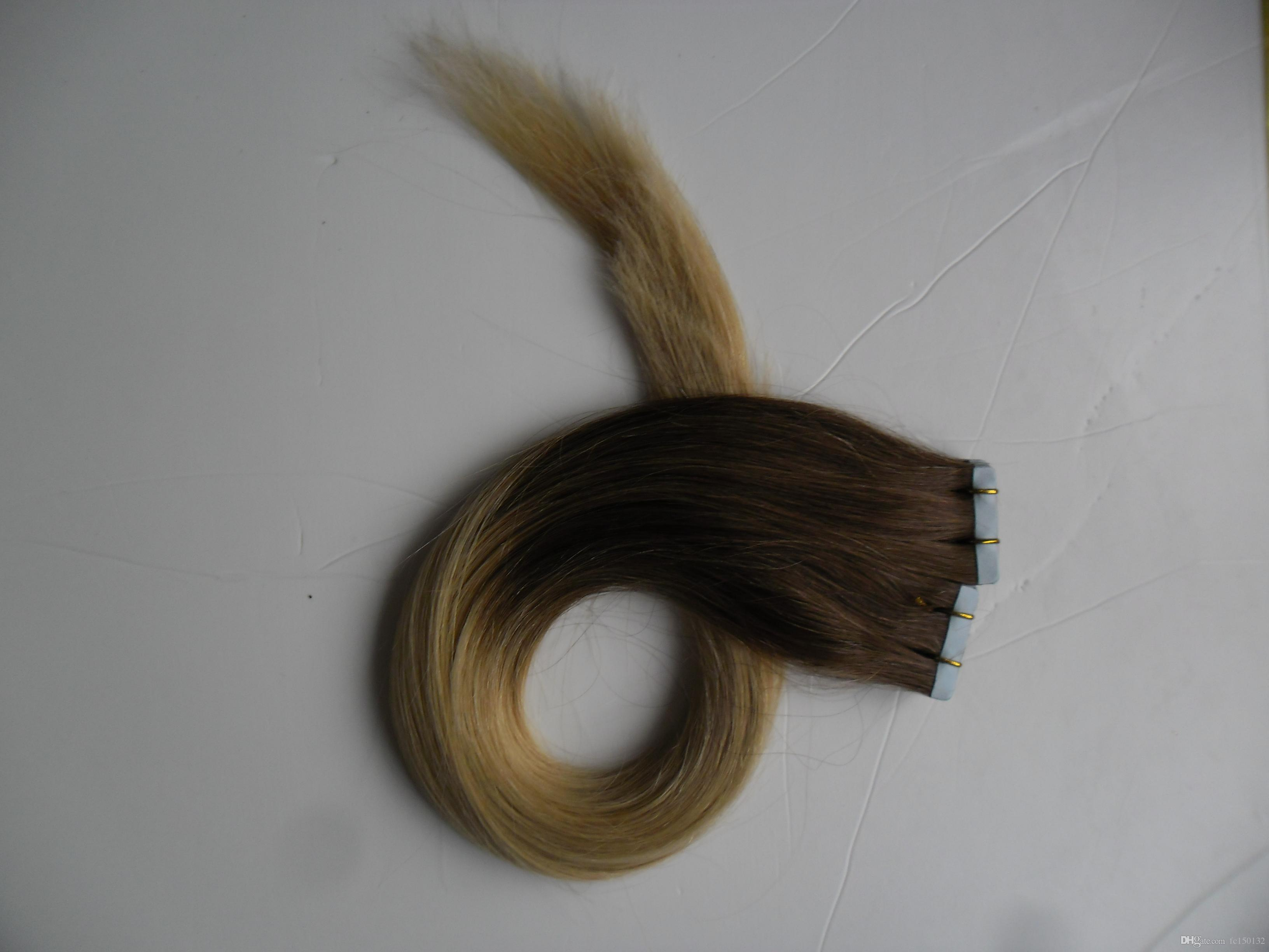 # 2/613 لون الشريط في الشعر الإنسان 100G البرازيلي مستقيم الشعر 40 قطعة PU أومبير الشريط في الشعر الإنسان ملحقات T1B / رمادي # 99J