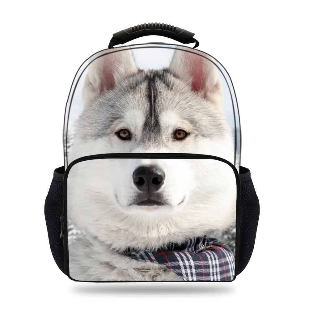 659482b97a42 15inch Hot Sale Husky Dog Backpack For Teens Girls Boys Animal Print Bag  For Children School Students Book Bags