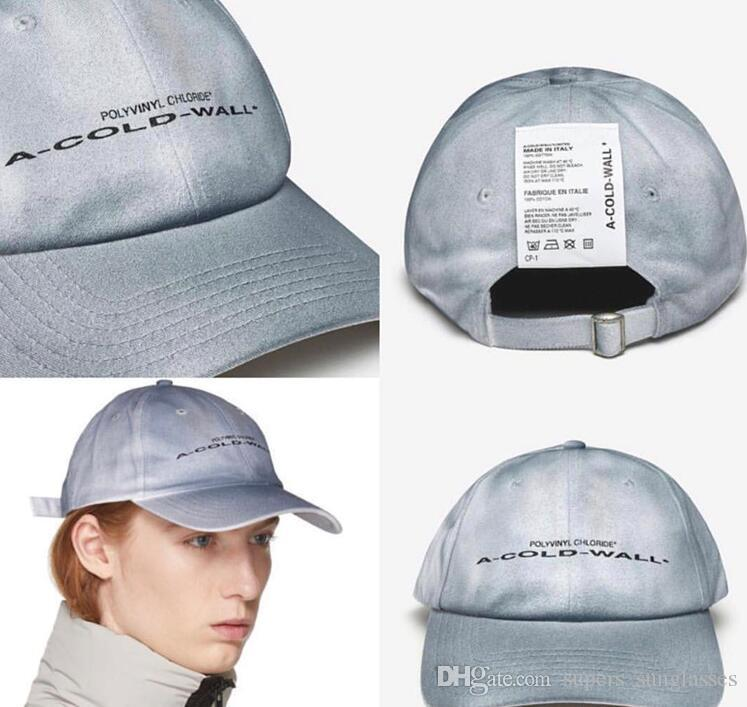 521cff4b6a119 2019 Latest Japan F W Hip Hop Autumn Winter ACW A-COLD-WALL Letter  Embroidery Knitted Hat Kanye West Men Women Baseball Cap Baseball Cap Hats  For Women ...