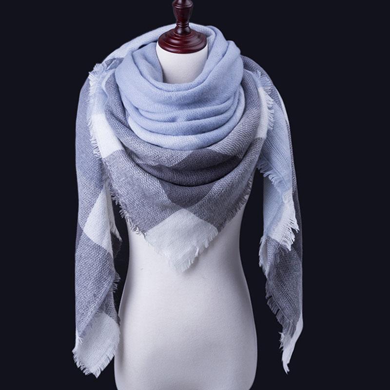 Großhandel WISHCLUB Plaid Winter Schal Damen Marke Warme Schals ...