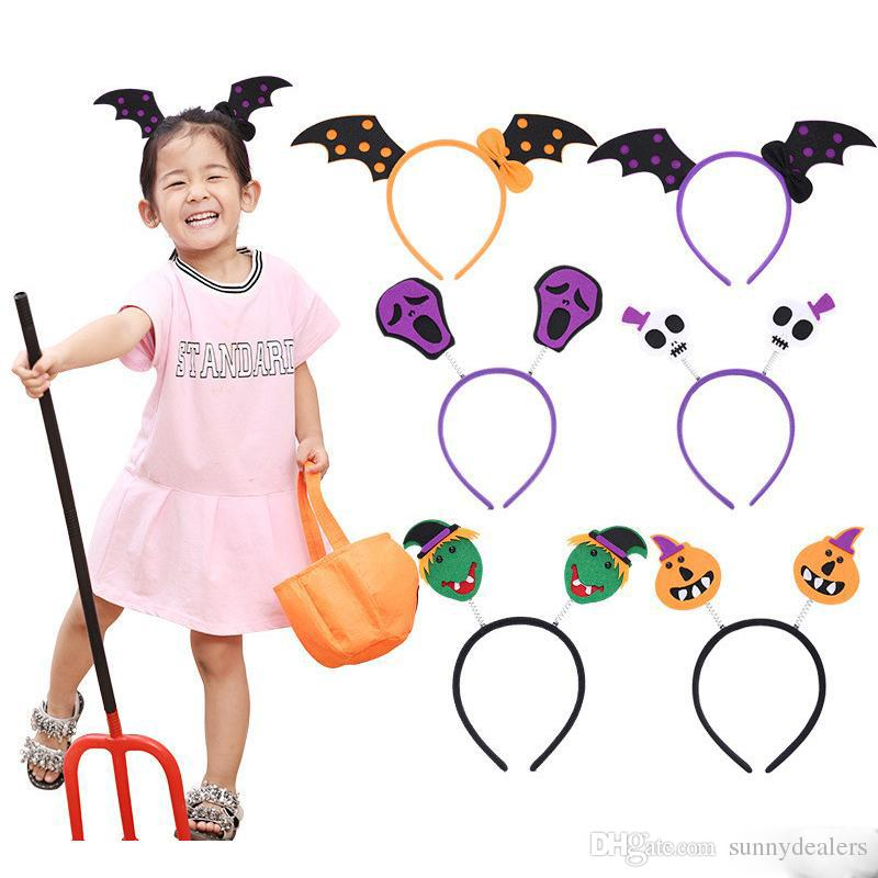 New Arrival baby halloween hair sticks party wear skull witch bat animal hair hoops kids cosplay wear festival gifts