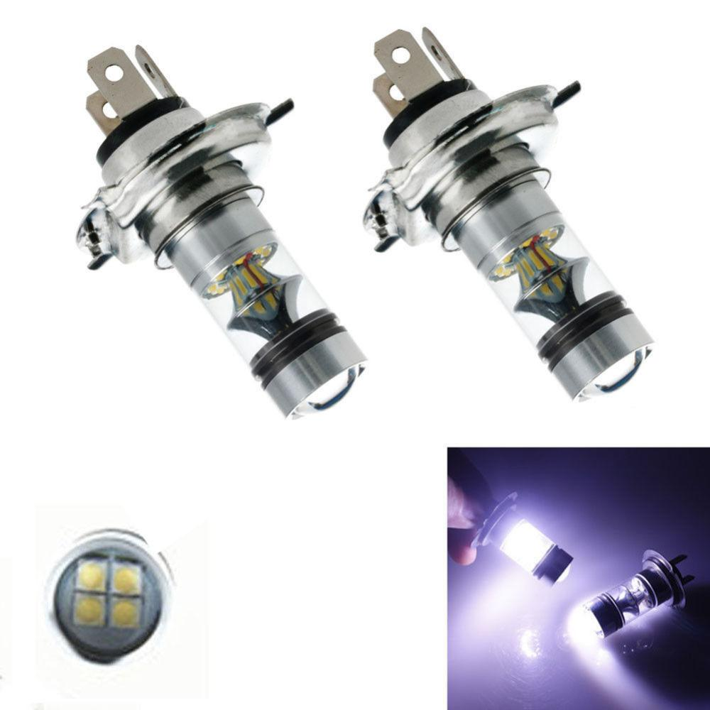 Lampe Automatique Super Lumineux H4 Projecteur 24v 2pcs Conduite Blanche Led Antibrouillard 100w Ampoule 12 De Assemblée ygvf67Yb