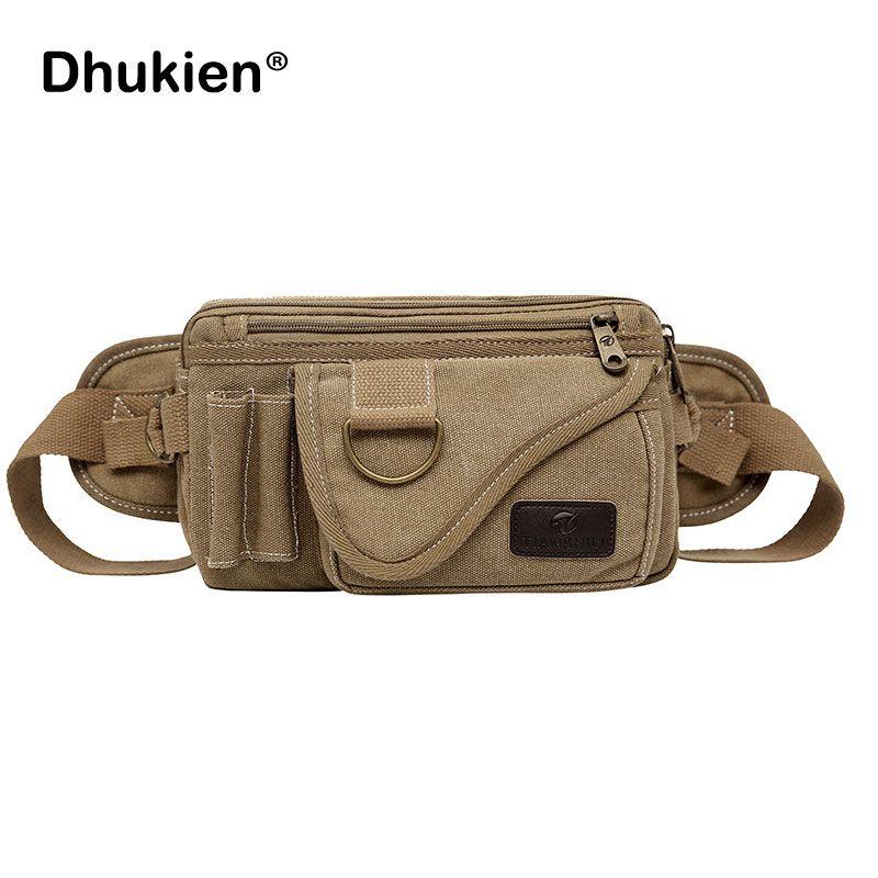 5de3c9de56 Vintage Canvas Men Waist Pack High Quality Travel Pouch Fanny Pack  Multipurpose Hip Bag Belt Heuptas Chest Sling Bag