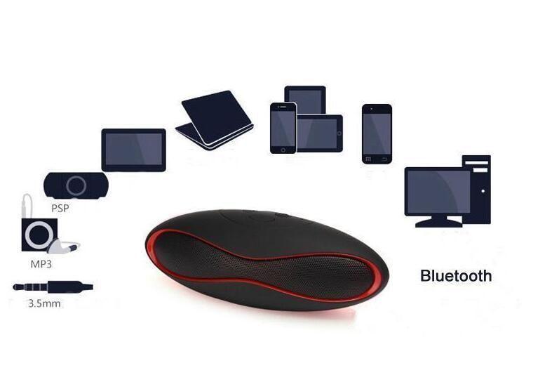 Mini X6 Rugby Altavoz Bluetooth X6u Altavoces estéreo inalámbricos portátiles X6U Manos libres V3.0 Reproductor de Audio MP3 Subwoofer Con U Disk TF Card 201