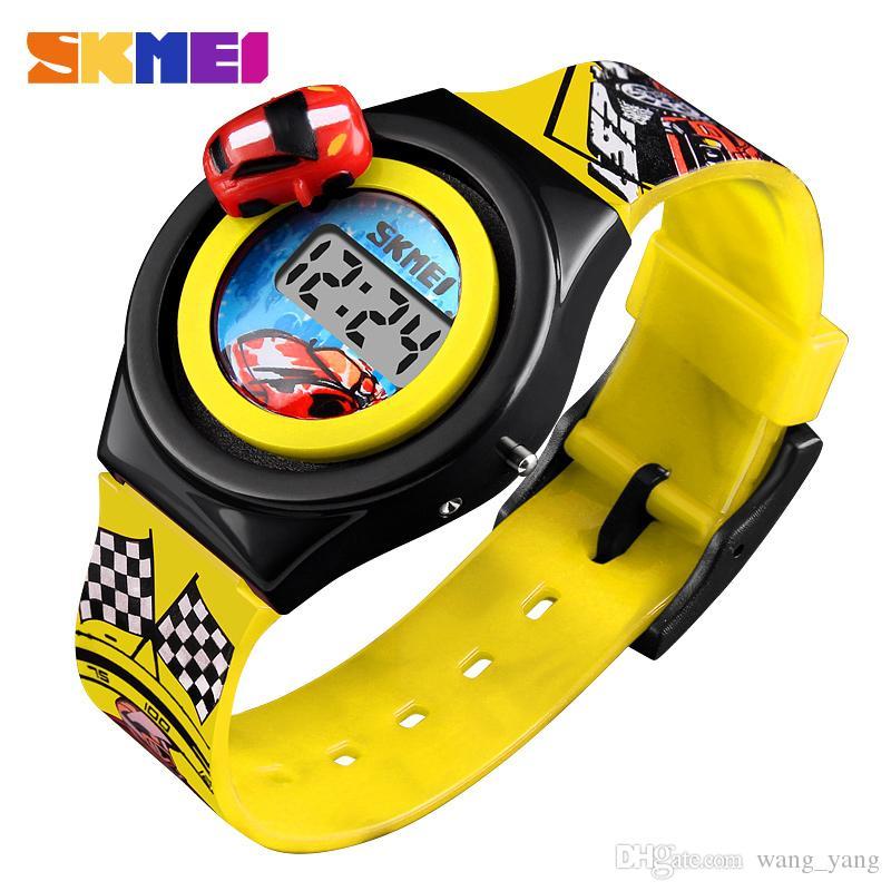 2c6ced70b549 Compre Moda De Dibujos Animados Creativos Coche Niños Reloj Marca Digital  Reloj De Pulsera Para Niños Relojes De Estudiantes Niños Niños Niñas Reloj  A ...