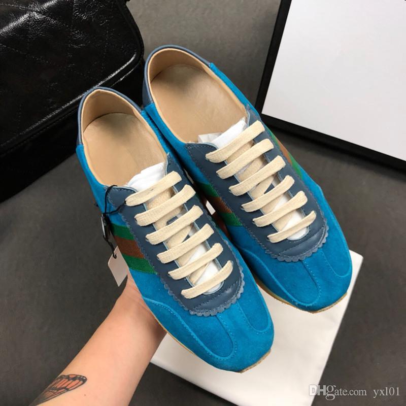 Compre 2018 Novo Estilo Itália Designer De Luxo Calçados Esportivos Casuais  Moda Chaussures Para Melhor Qualidade Amarelo Rosa Azul Mulheres Tênis  Sneakers ... 64aec35112d