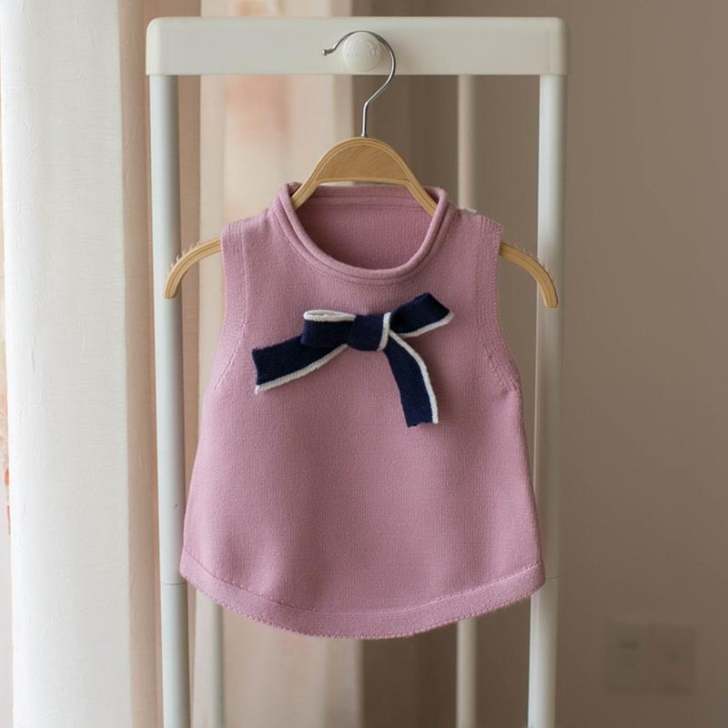 bb7af068f48c 2018 Autumn Knitting Baby Infants Knitwear Sleeveless Vest Sweet Bow ...