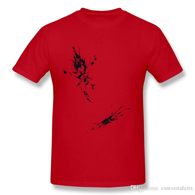 New Design Mens Pure cotton Splaaash Series - Vegan Fighter Ink Camisetas Hombre para hombre Cuello redondo Verde Ropa de manga corta Más tamaño Camiseta personalizada
