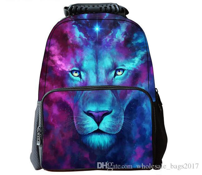 29 Styles Animals 3D Printing Backpacks Colorful Lion Children Kids School  Bags Students Bookbags Knapsacks For Boys Girls Burton Rucksack Sports Bags  From ... fc596bdc893d3