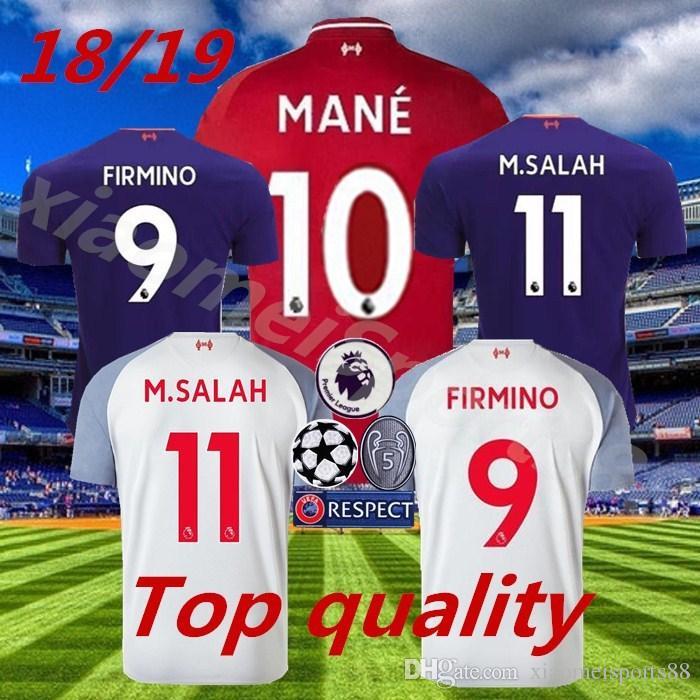 Compre Top Tailândia Mohamed SALAH Camisa De Futebol 2019 VIRGIL KEITA  SHAQIRI Kit De Futebol Camisa FIRMINO 18 19 ROBERTSON Homens Tamanho  Crianças ... c37d54b053913