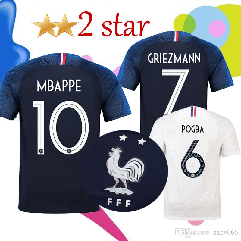 2 Stars MBAPPE GRIEZMANN Soccer Jersey 2018 World Cup POGBA GIROUD ... 332051738