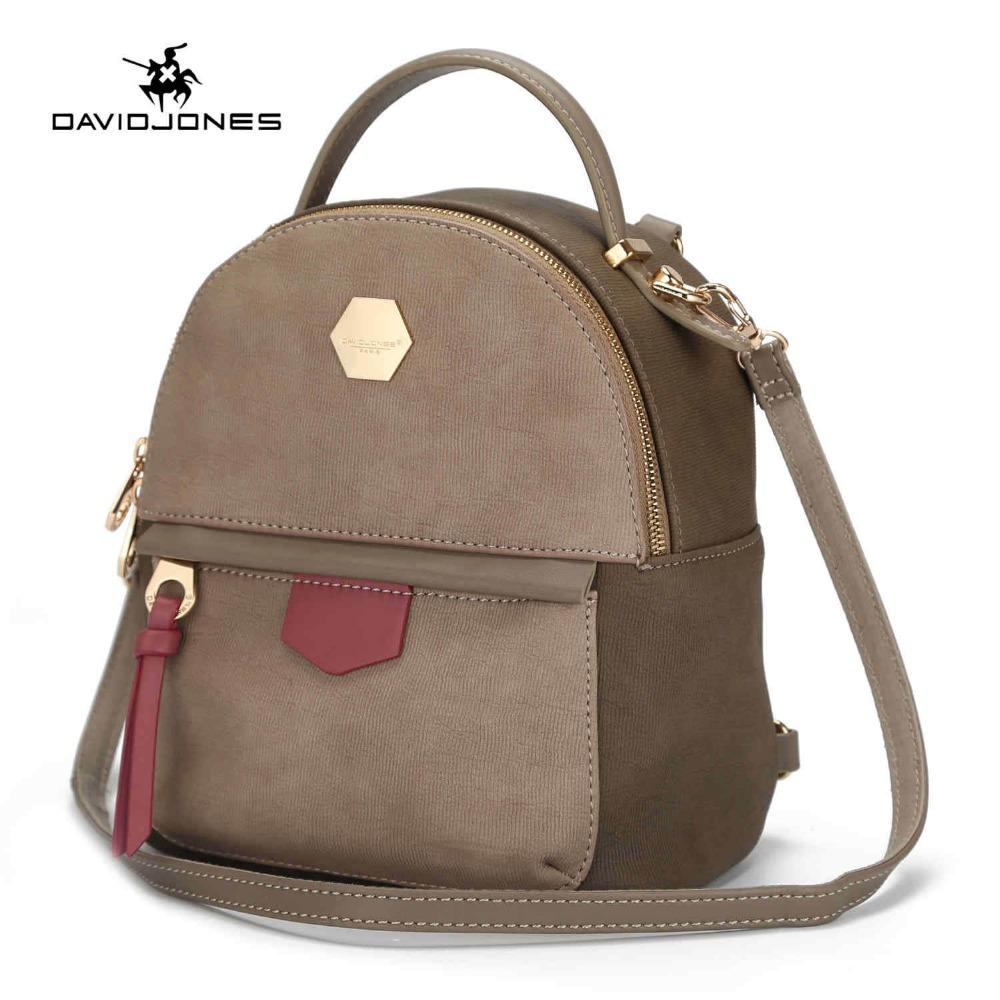 9dd28d8a822 DAVIDJONES Mini Backpack Women School Bags Female Shoulder Bags Bolsa  Mochila Feminina Sac A Dos Rugzak Black Leather Backpack Backpacks For  School From ...
