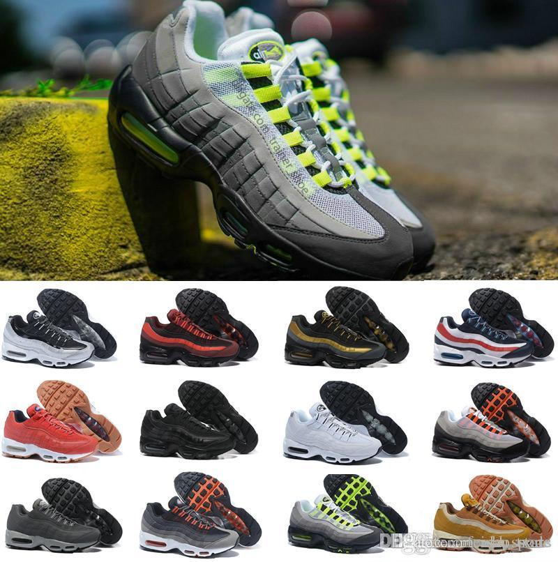 the best attitude ae40e 25668 AIR Cushion 20th Anniversary 95 OG Running Shoes For Men off Chaussures  white TN 95s Trainers designer shoes size 40-46