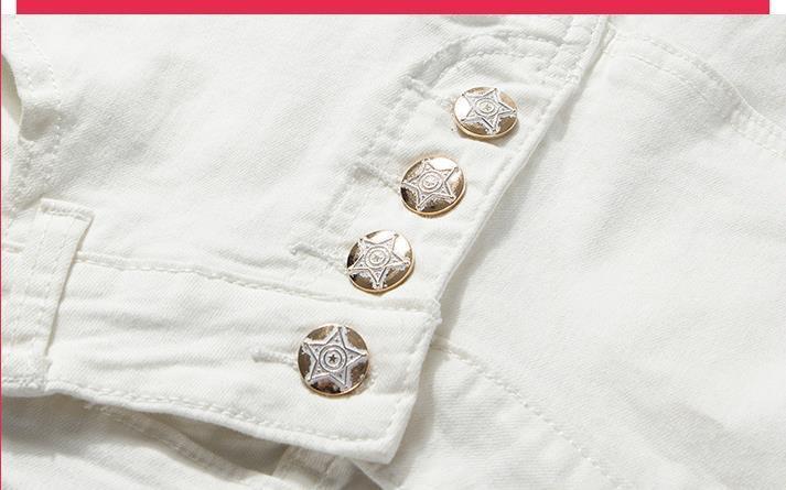 2017 capris blancos de un solo pecho de algodón para mujeres harén pantalones S-XL