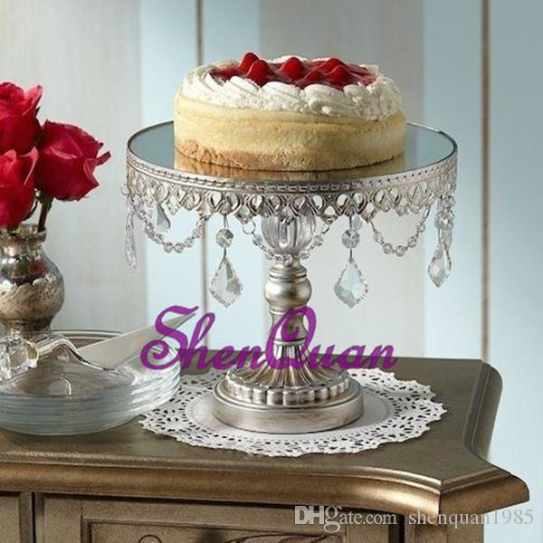 Wholesale Advanced Double Round Crystal fruit racks for wedding party decoration,Cupcake Top Decor for wedding centerpieces