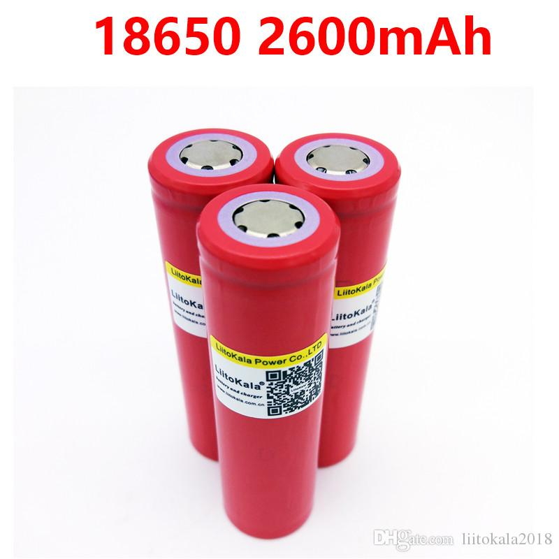 2 PCS New 100% Original UR-18650ZY LiitoKala 18650 2600 mAh Li-ion rechargeable Powerful high quality battery