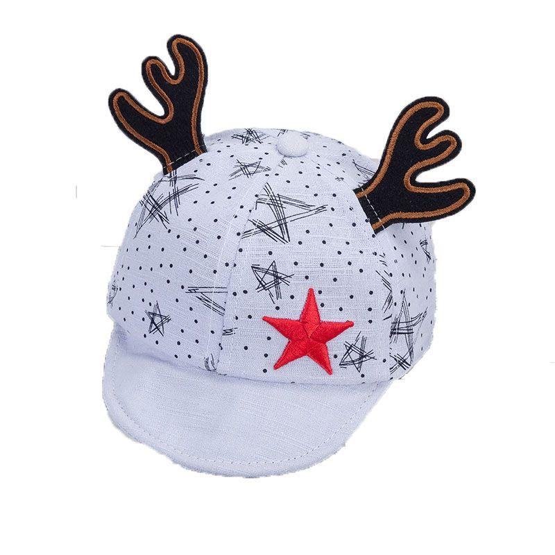 a2d9fd53db509 2019 2018 Unisex Baby Baseball Cap Kid Child Deer Horn Star Design  Adjustable Printed Soft Brim Baseball Hat Spring Autumn MZ5608 From  Changcheng1688