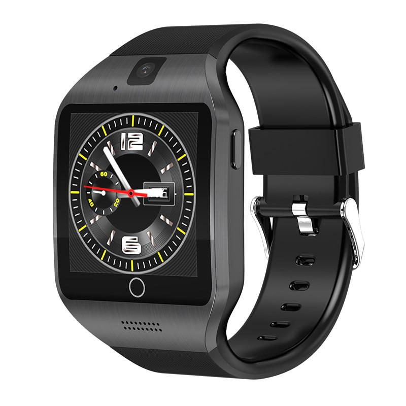V88 Android OS Smart Watch Phone Q18S With 500W camera Video Support WiFi  3G Sim Card Play Store Download APP Whatsapp Facebook