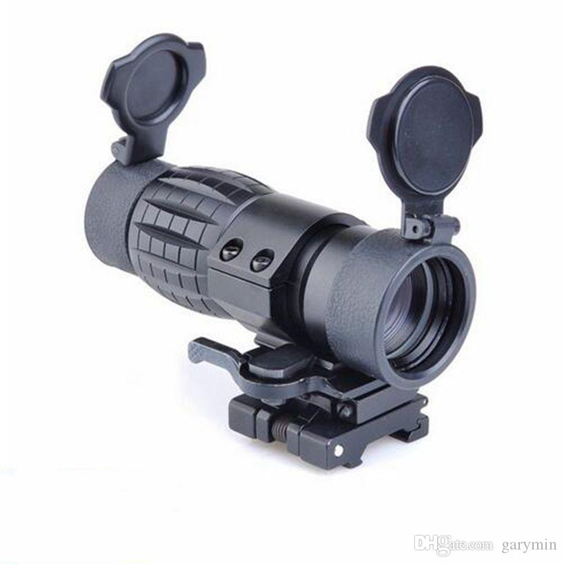 QD FTS 4X Lupa Scope Óptica airsoft Riflescope Se Encaixa Vista com Flip To Side Picatinny Weaver Rail Mount