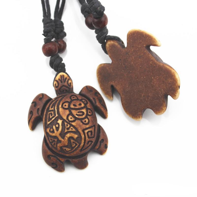 Ordine della miscela Stile della miscela Donna degli uomini di modo Imitazione dell'osso di Yak Collana di pendenti delle tartarughe marine praticanti il surfing fortunate di pesca /