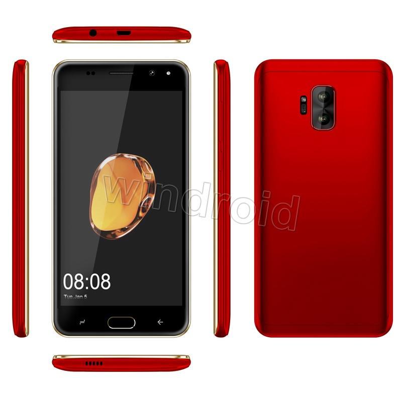 "Mini s9 K30 5"" Quad Core Smart phone MTK6580 4GB Android 7.0 Dual SIM CAM 5MP 3G WCDMA Unlocked Mobile Gesture face unlock Edge panels"