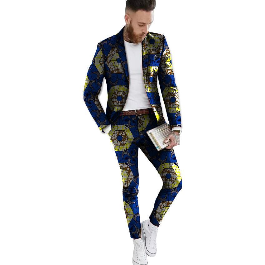 Compre Blazer Y Pantalón Formales De Estampado Africano Blazers Con Traje  De Chaqueta De Traje Ankara Africano Festivo Para Hombres De Fiesta A   89.62 Del ... 813f0d8659c