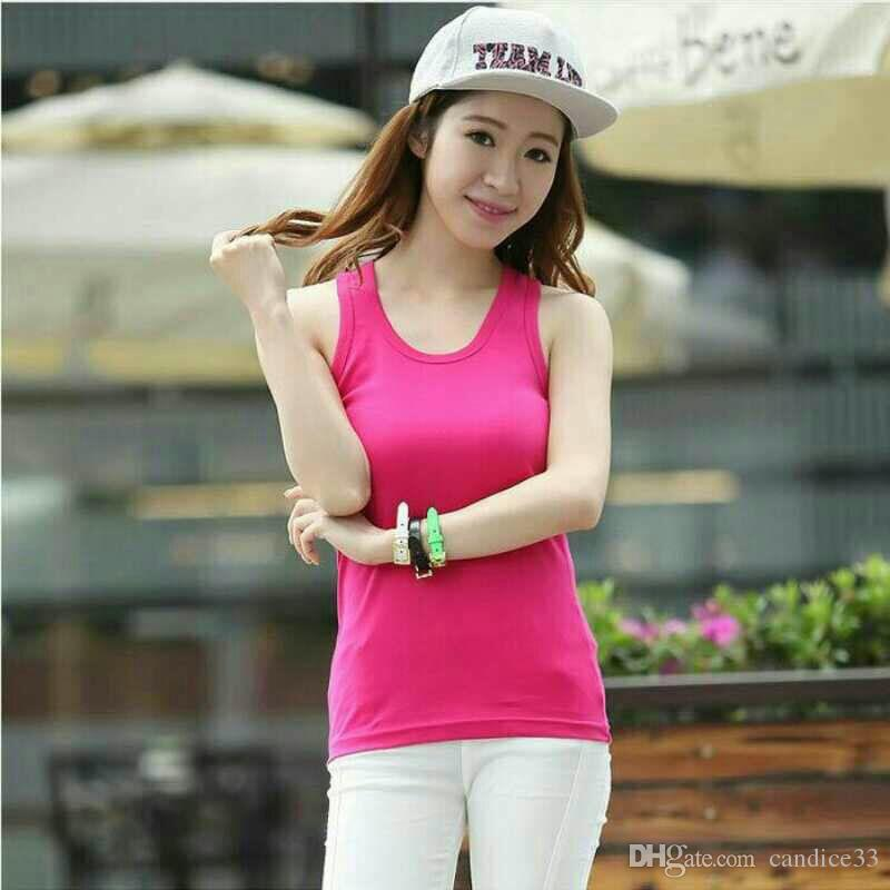 New Solid Slim Women tank Tops Summer Sleeveless Jersey Cotton Tanks Camis Tees For Woman Sexy Top White Black Vest