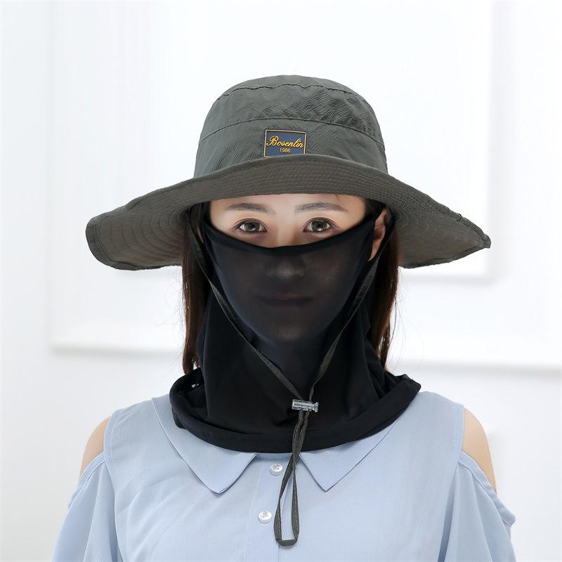 ecdededb1dbb3 Xongkoro Summer Women Sun Hat Quick Drying Fishing Hats With Face Neck  Cover Girls UV Protection Climbing Breathable Sunbonnet Baby Hats Bucket  Hats For Men ...