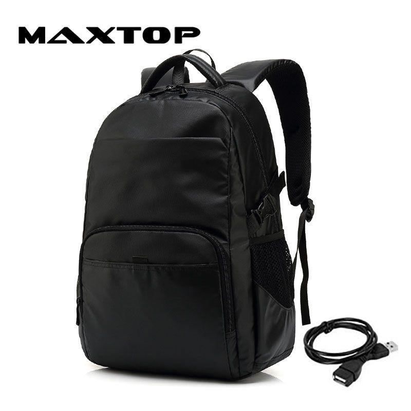 dc74c77645 MAXTOP Multifunction USB Charging Men Laptop Backpacks For Teenager ...
