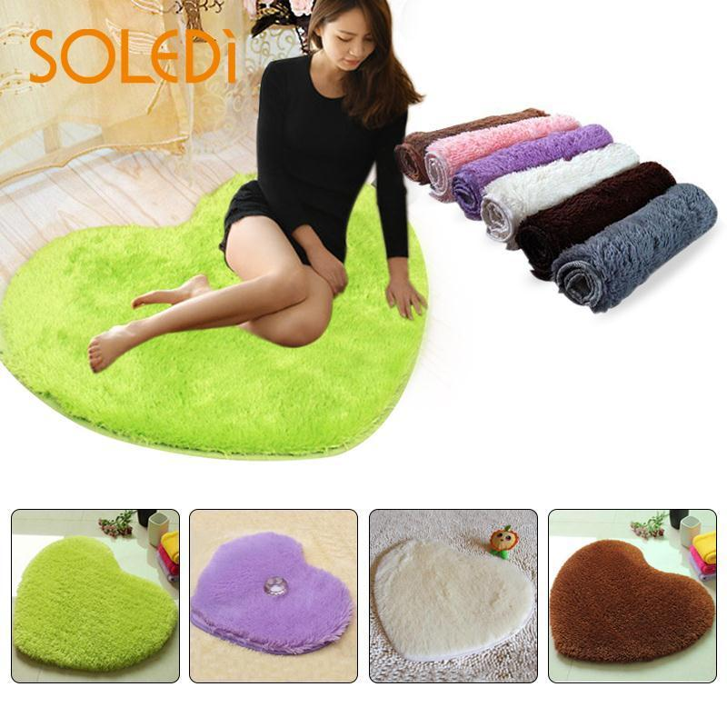 40x30cm Heart Shaped Carpet Shower Floor Bathroom Bath Rug Tub Foam Pad Mat Blanket