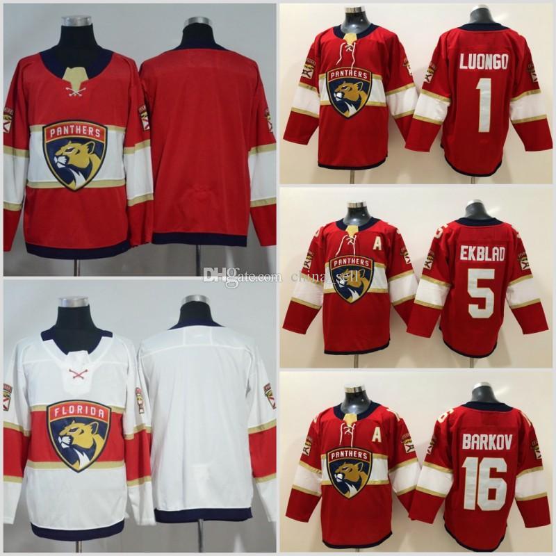 low priced b55fa 40b02 New Florida Panthers Jersey Men s #16 Aleksander Barkov 1 Roberto Luongo 5  Aaron Ekblad Hockey Jerseys 100% stitched