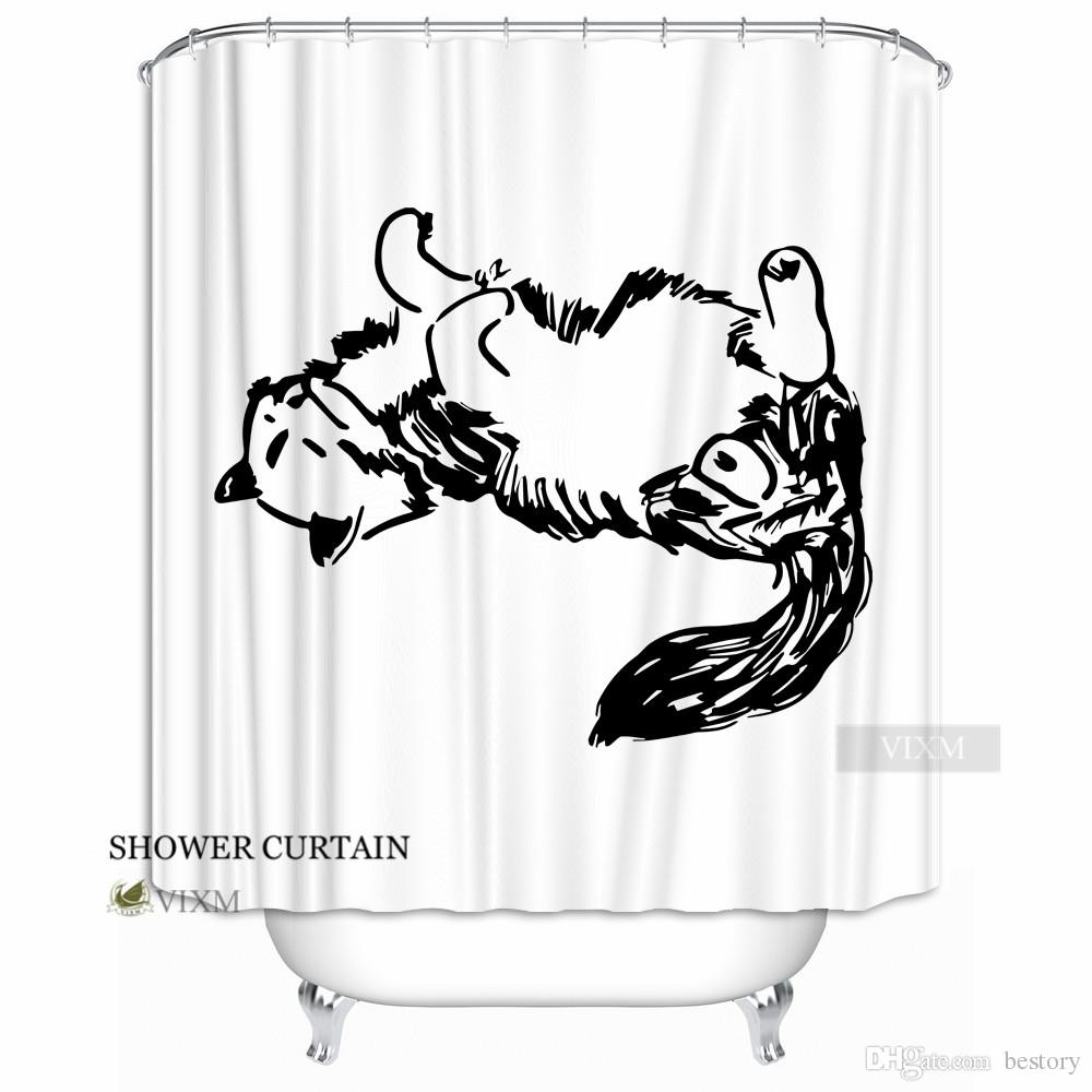 Vixm Home Clever Animal Fabric Shower Curtain Horse Deer Customized Bath For Bathroom With Hooks Ring 72 X