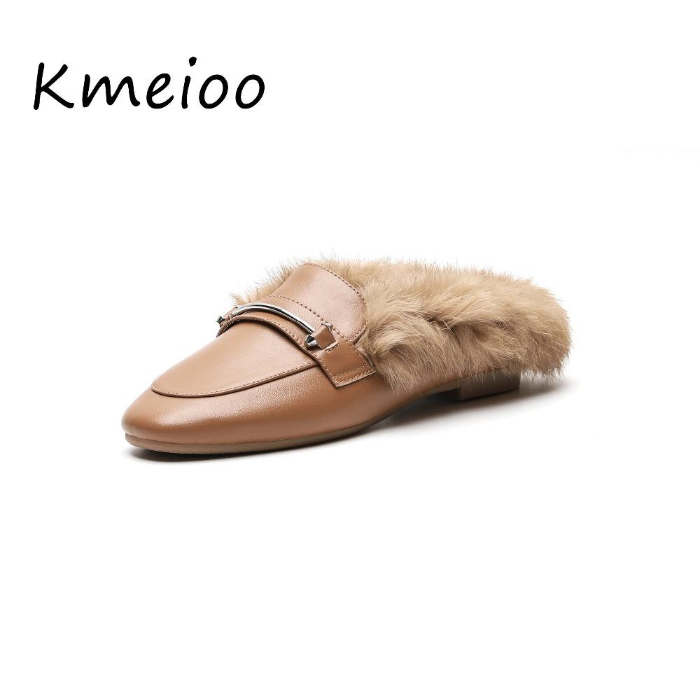 91a067f0e34f Women Winter Mules Square Toe Moccasins Fluffy Fur Shoes Woman Keep Warm  Loafers Woman Comfort Furry Flats Shoes Online with  75.17 Piece on  Shoes1234 s ...