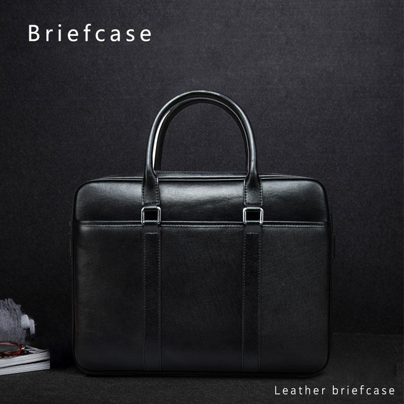 2019 Genuine Leather Laptop Briefcase 13.