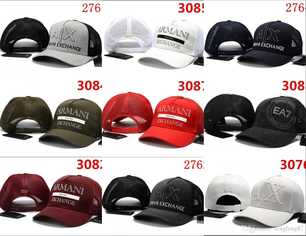 e93f28dc9a1 Hot New Fashion AX Hats Brand Hundreds Strap Back Men Women Bone ...
