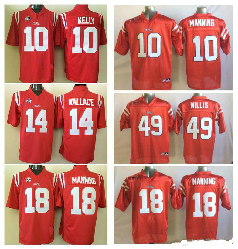 10 Eli Manning 18 Peyton Manning 14 Bo Wallace 49 Patrick Willis Ole Miss  Rebels Men Jersey Mens College Football Jerseys Online with  30.77 Piece on  ... 2cf6f563e