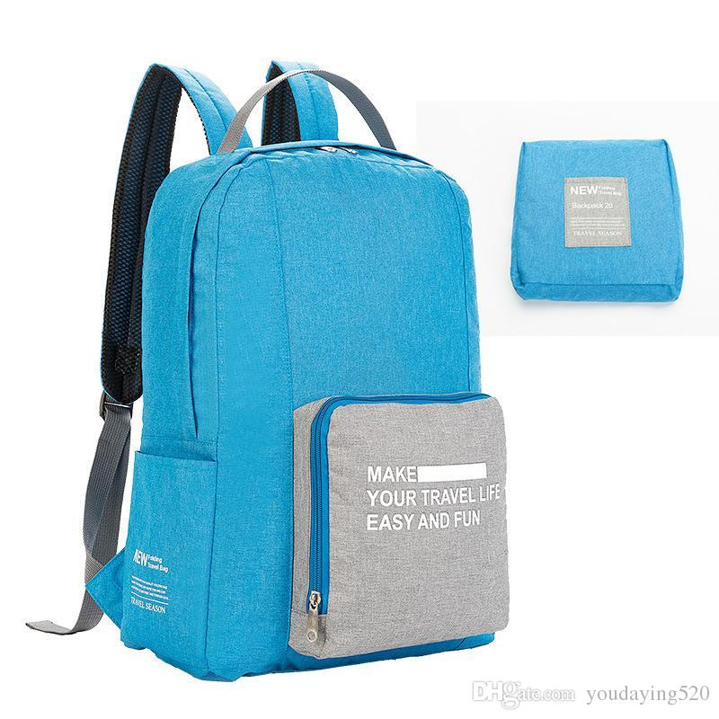 Fashion New Polyester Cation Waterproof Folding Backpack Beach Ultra