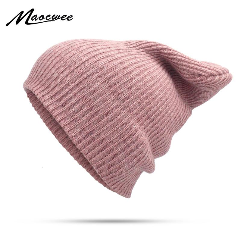 Women Plain Beanie Hat 2018 Spring Cotton Slouchy Beanie For Women Knitted  Bone Wool Hat Ladies Black Skullies Ski Faux Rabbit Ski Hats Newborn Hats  From ... 8d9a8d26ae6